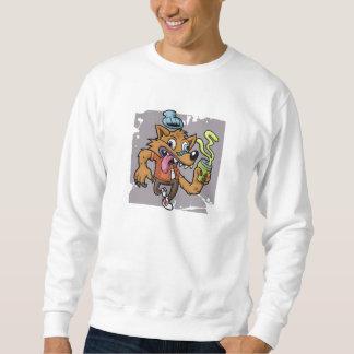 De wolf van de cartoon hipster met soda trui