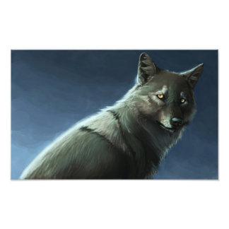 De Wolf van de mist Fotoprints