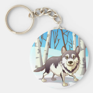 De Wolf van de winter Sleutelhanger