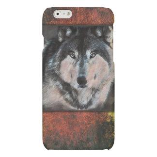 De Wolf van het hout iPod, iPhoneHoesje Matte iPhone 6 Hoesje