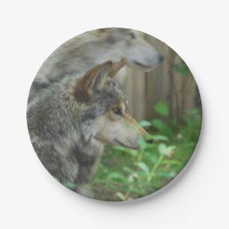 De Wolf van het hout Papieren Bordjes