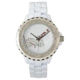 De Wolk van het Label van Zazzle op witte Horloges