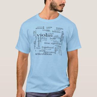de wolk van het vioolwoord t shirt