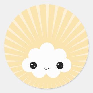 De Wolk van Kawaii Ronde Sticker