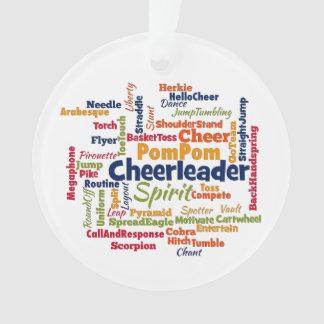 De Wolk van Word van Cheerleader (juich Leider Ornament