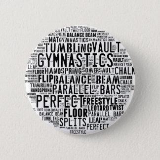De Wolk van Word van de gymnastiek Ronde Button 5,7 Cm