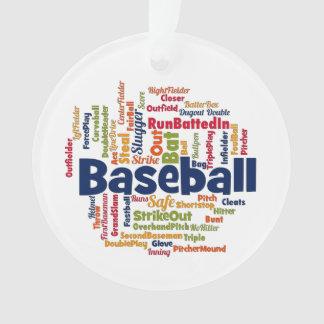 De Wolk van Word van het honkbal Ornament
