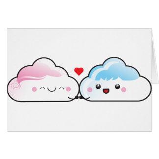 De Wolken van de Liefde van Kawaii Wenskaart