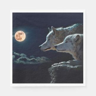 De Wolven die van de wolf bij de Volle maan huilen Wegwerp Servet