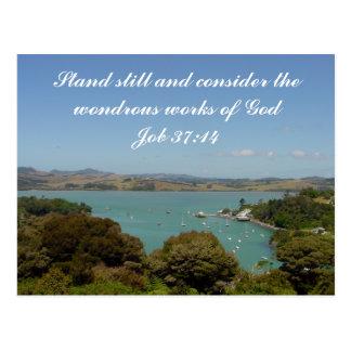 De wonderbaarlijke Werken [van God] - het 37:14 Briefkaart