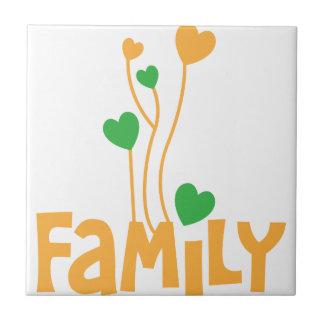De woorden van de FAMILIE met de ballons van het Tegeltje