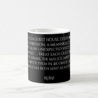 """De Woorden van de Gast van Rumi van het """"Huis"""" van Koffiemok"""