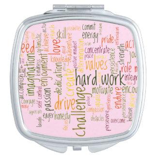 De Woorden van de motivatie #2, de verhoging van Makeup Spiegeltjes