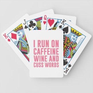 De Woorden van de Wijn & van de Vloek van de Bicycle Speelkaarten