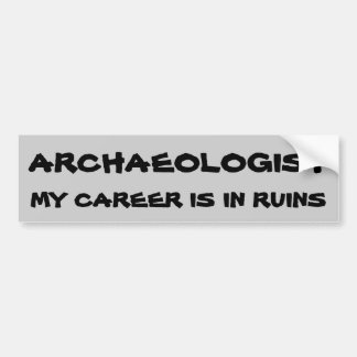 De Woordspeling van de archeoloog. Carrière in Bumpersticker