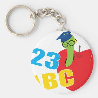 De Worm van ABC Basic Ronde Button Sleutelhanger
