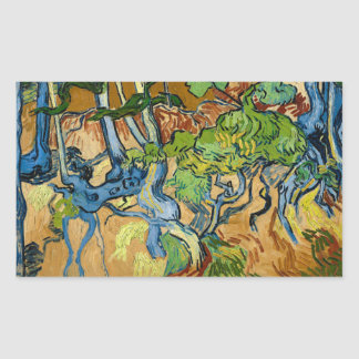 De Wortels van de boom door Vincent van Gogh (Juli Rechthoekige Sticker