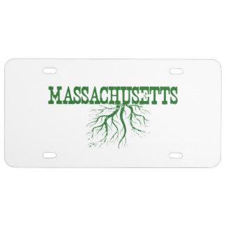 De Wortels van Massachusetts Nummerplaat