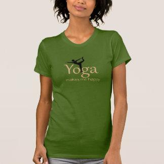 De yoga maakt me gelukkig t shirt
