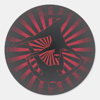 De Yoga Ninjas van Acro Ronde Sticker