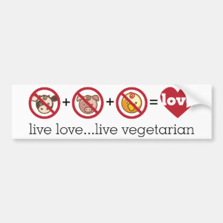 De yoga spreekt: Leef de Levende Vegetariër van de Bumpersticker