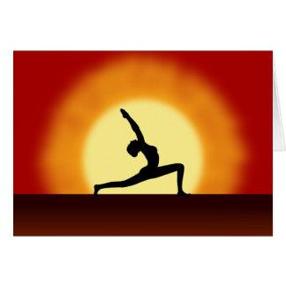 De yoga stelt de Wenskaarten van de Zonsopgang van