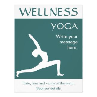 De yoga stelt de Witte Vliegers van Aqua van het Flyer 21,6 X 27,9 Cm