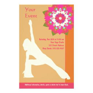 De yoga stelt Vlieger Folder