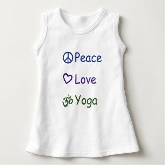 De Yoga van de Liefde van de vrede Baby Jurk