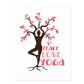 De Yoga van de Liefde van de vrede Briefkaart