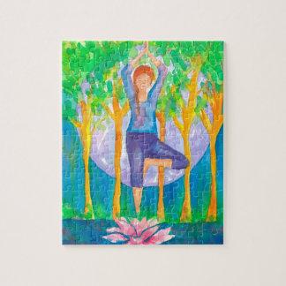 De Yoga van de Vrouw van de volle maan stelt Puzzel