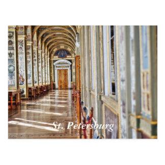 De zaal van de boog in de Kluis, St. Petersburg Briefkaart