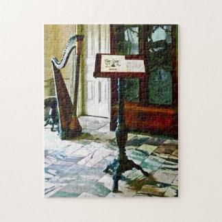 De Zaal van de muziek met Harp Legpuzzel