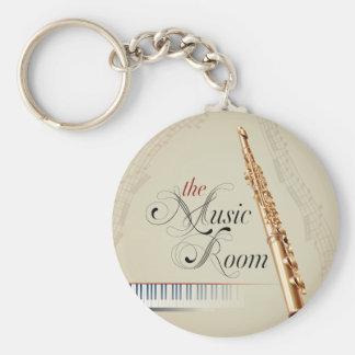 De Zaal van de Muziek van de fluit Sleutelhanger