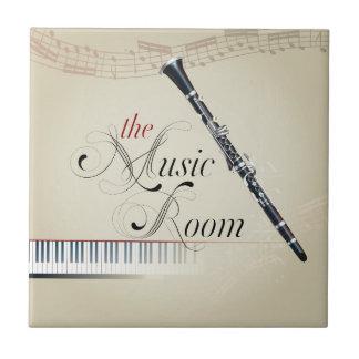De Zaal van de Muziek van de klarinet Keramisch Tegeltje