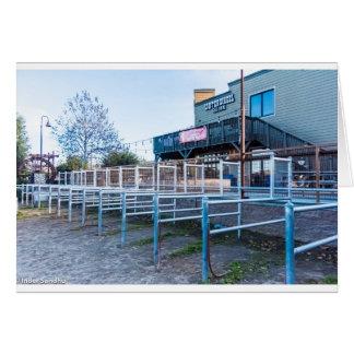 De Zaal van het waterrad Wenskaart