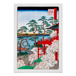 De Zaal van Kiyomizu, het Fijne Art. van Hiroshige Poster