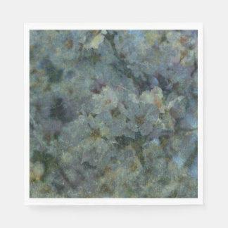 De zachte Blauwe Servetten van de impressionist Papieren Servetten
