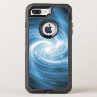 De zachte Blauwe Werveling van de Draaikolk OtterBox Defender iPhone 8 Plus / 7 Plus Hoesje