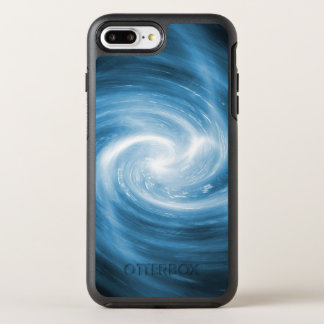 De zachte Blauwe Werveling van de Draaikolk OtterBox Symmetry iPhone 8 Plus / 7 Plus Hoesje