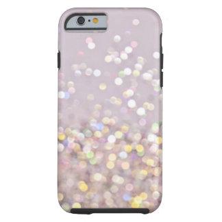 De zachte Fonkelingen van Bokeh van de Pastelkleur Tough iPhone 6 Hoesje