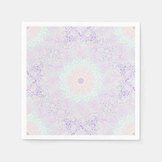 De zachte Pastelkleur (Grote) Mandala van de Papieren Servet