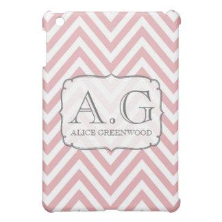 De zachte Roze MiniDekking van het Monogram IPAD v iPad Mini Cases