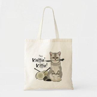 De zak katoenen van de kat Breiend bolsa met Draagtas