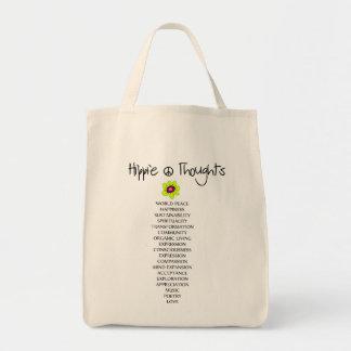 De zak van de Gedachten van de hippie Tas