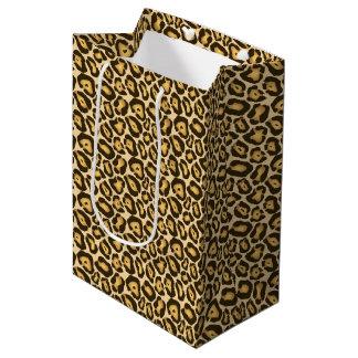 De Zak van de Gift van de Druk van de luipaard Medium Cadeauzakje