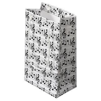 De Zak van de Gift van de Nota van de muziek Klein Cadeauzakje