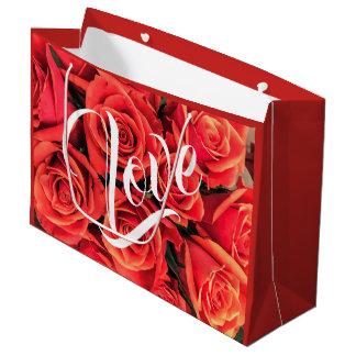 De Zak van de Gift van de Rozen van de liefde Groot Cadeauzakje