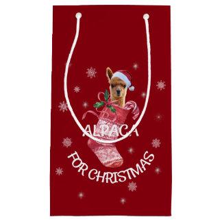 De Zak van de Gift van Kerstmis van de alpaca Klein Cadeauzakje