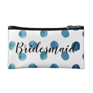 De zak van de het bruidsmeisjemake-up van de stip cosmetica tasje